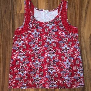 Maurices red paisley tank